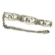Chico's Interlocking Chain Belt Silver Tone