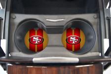 SAN FRANCISCO 49ERS CUSTOM RUBBER CAR COASTER SET 2