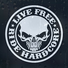 Harley Davidson En Vivo Gratis Ride Hardcore Motocicletas Coche Decal Pegatina De Vinilo