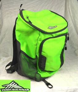 "High Sierra Poblano Backpack - Dark Gray & Neon Green 18.5"" x 12.25"" x 7.5"""