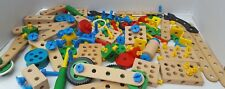 Brio Wood System Creative Huge Lot Building Construction Tools Wheel Block Bolt+