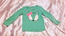 Circo Teal Fox Long-Sleeve Shirt - Size 3T Girls
