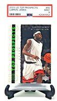 2003 Upper Deck High School LEBRON JAMES Rookie Basketball Card PSA Grade MINT!