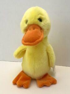 """Ty Beanie Buddy QUACKERS  10"""" Yellow Duck 1998 Retired"""