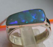Brazil Crystal Opal 4 Karat 950er Silberring Größe 19,4 mm
