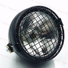 Grill Retro Vintage Motorcycle Side Mount Headlight Cafe Racer Bobber Old School