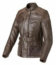 GENUINE TRIUMPH BEAUFORT LADIES LEATHER MOTORCYCLE JACKET WAS £300 N0W