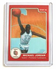 Michael Jordan 1985 Star North Carolina Error Logo Basketball Rare Card