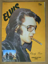 ELVIS POSTER MAGAZINE ELVISLY YOURS No 5 TRIBUTE TO THE KING ELVIS PRESLEY