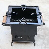 Iron wood Coal Square burning Kitchen use stove Sigri Fire pit Portable India