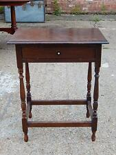 Oak Antique Style Side & End Tables with Drawers