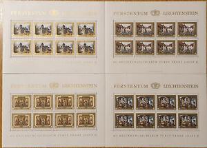 40 Regierungsjubiläum Fürst Franz Josef II Kleinbogensatz Postfrisch ** MNH