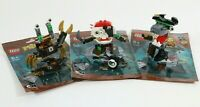 LEGO MIXELS SERIES 8 PYRRATZ - SHARX SKULZY LEWT 41566 41567 41568 - PACKETS VGC