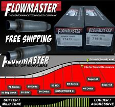 "FLOFX71419 by FLOWMASTER BULLET 3in"" C/C ROUND 4""X14""X20"" 2 MUFFLERS"