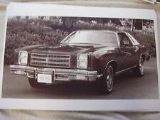 1976 CHEVROLET  MONTE CARLO  11 X 17  PHOTO /  PICTURE