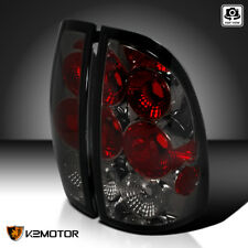 For 2005-2008 Toyota Tacoma Smoke Tail Lights Rear Brake Lamps Pair LH RH