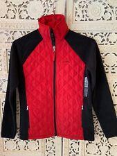 Ralph Lauren Ladies Red/Black Quilted FLEECE/JACKET Size XS NWT