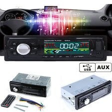 12V Car Single 1 DIN In-dash Radio MP3 Player Audio Stereo FM Aux Input SD USB