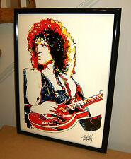 Brian May, Queen, Rock Guitar Player, Guitarist, Hard Rock, 18x24 POSTER w/COA