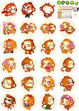 Lucky Fashion Cute Creative Monkey Hip-Hop Wall Removable Stickers Kids Home