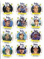 RARE 1988 MONTREAL  EXPOS   HOSTESS  CARD LOT