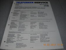 AMPLIFICATORE Telefunken ha800 ha1800 service manual