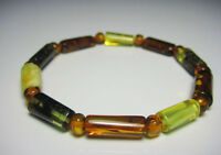 Natural  Baltic Amber Bracelet  Elastic Stretch