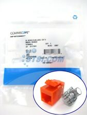 Commscope (Tyco/TE Connectivity/Amp) Cat6 SL110 Jack, Orange 1375055-5 ~STSI