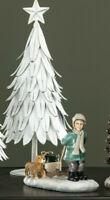 Winterkind mit Schlitten Deko Figur  Weihnachten Christmas Shabby Chic Landhaus