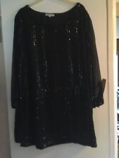 Past Times Black Sequin Tunic L/XL Very Edwardian With A Long Black Skirt