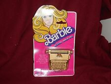 Barbie Modern Miniatures Typewriter Sealed on Card 1976