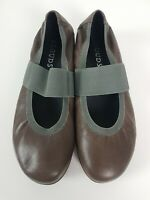 KLOUDS Comfort Shoe Size EUR 41 Taupe Glove MEADOW Mary Jane Grey Elastic Flat