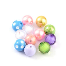 50g Mixed Style Chunky Acrylic Bubblegum Ball Beads Round DIY Beading Craft 20mm