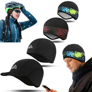 Men Woman Winter Windproof Beanie Fleece Hat Ski Cycling Helmet Liner Skull Caps