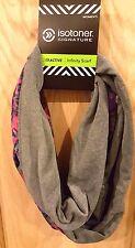 Isotoner Active Grey-Multi Kaleidoscope Soft Fleece Smart Dri Infinity Scarf $42
