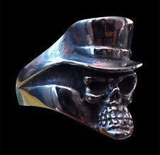 Stainless Voodoo Skull Biker Ring Custom Size Chopper Handmade Occult R-156ss