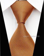 Fashion Silk Tie Wedding Mens Slim Business Formal Necktie Brown Skinny Ties Men