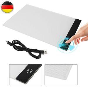 LED LICHT PAD A4 A3 LEUCHTTISCH LEUCHTPLATTE TRAGBARE LIGHT PAD +USB KABEL DE