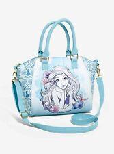 Loungefly Disney Little Mermaid Satchel Bag Ariel Watercolor Purse Handbag