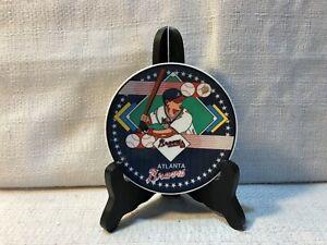".Atlanta Braves Sports Impressions 4"" MLB Baseball Porcelain Plate"