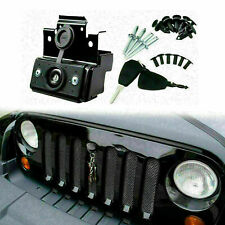 Hood Lock Kit Assembly Anti-Theft Security Lock Set For Jeep Wrangler JK 2007-18