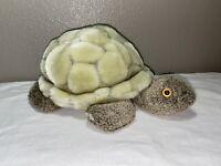 "Manhattan Toy 2006 Lt Green TURTLE Soft Multi Texture Plush Stuffed Animal 13.5"""
