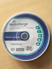 Discos de doble capa DVD+r 8,5 GB imprimible 8 piezas x cakebox 10
