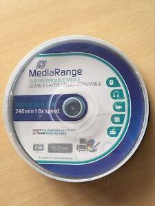 Double Layer DVD+R Rohlinge 8,5 GB  Printable 8x  Cakebox 10 Stück