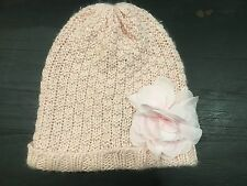 Gap Size m/l 3 4 5 Fleece Rosette Flower Hat New spakly Pink rose 21.95 new