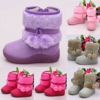 Toddler Kids Baby Shoes Children Boy Girls Bootie Solid Warm Outdoor Shoes Boots
