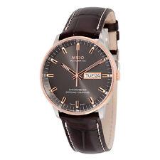 Mido Commander II Grey Dial Maroon Leather Mens Watch M0214312606100
