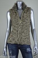 Charter Club New Brown Metallic Mock Collar Full Zip Vest MSRP $69 Petite L