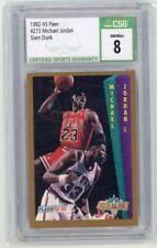 1992-93 Fleer Michael Jordan Slam Dunk #273 CSG 8 NM/MT Graded Card