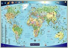 Illustrated Map of the World for Kids (Children's World Map)